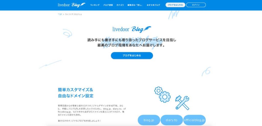 ブログ容量無制限に使える『ライブドアブログ』